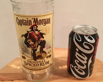 Captain Morgan Rum 1 Liter Bottle Glass
