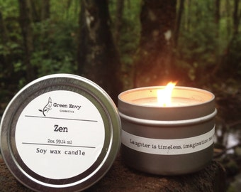 Zen- aromatherapy candle, meditation candle, relax, scented candle, yoga candle