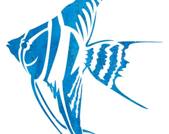 Angelfish Stencil
