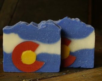 Colorado Soap | Artisan Crafted Colorado Flag Soap, Meticulously Handmade in Small Batches, Essential Oils Only