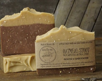 Oatmeal Stout Soap | Beer Soap, Rustic Soap, Beer Soap Bar, Unscented Soap, Artisan Soap