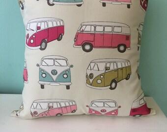 VW campervan cushion, pillow, envelope cushion