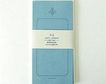 KUROYAGIZA Antique Style Letter Writing Set (No.1 blue bird)