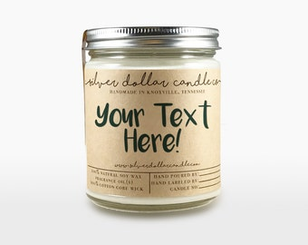 Personalized, 8oz Custom Scented Candle | Fathers Day gifts, Personalized candles, personalized for her, customized - Pick and Scent & Font
