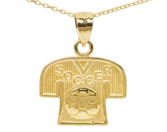 10k Yellow Gold Soccer Necklace