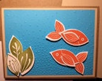 Goldfish Swimming Greeting Card