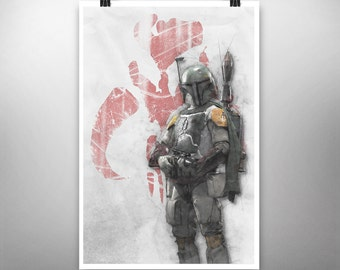 Star Wars: Boba Fett - Poster Art Print, Signed  (Original Artwork)