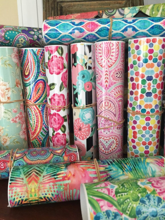 Beautiful, Vibrant Patterned Craft Vinyl and Heat Transfer Patterns 1-56