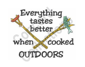 Outdoor Cooking Machine Embroidery Design