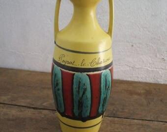 W. GERMANY 1014-25, form yellow amphora ceramic vase