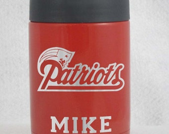 12 oz yeti colster New England Patriots Personalized customized with name