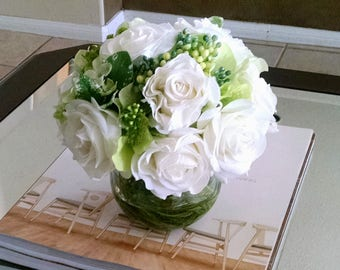Real Touch Flowers Centerpiece-Faux Floral Arrangement-Silk Arrangement-Silk faux arrangement -Fake flowers-Fall Flowers