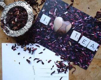 Postcard I love tea