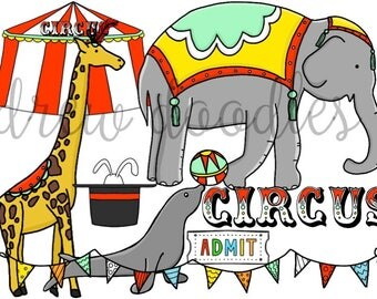 Circus Digital Clip Art Set- Instant Download