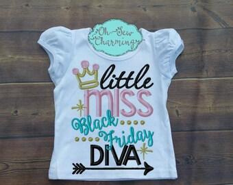 Little Miss Black Friday Diva Shirt