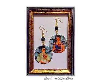 Frida Kahlo-The Two Fridas wood craft handmade decoupage art