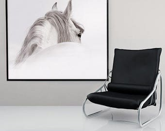 black and white horse, black and white wall art, Art and Collectibles, Drawings and illustrations, digital, animal wall art, wall art prints