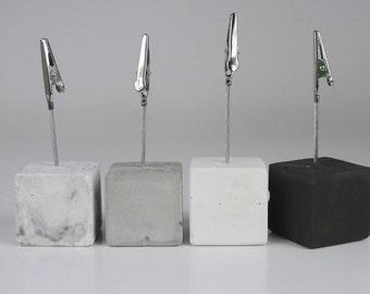 Picture clip, Concrete photo clip, Photo holder clip, Business card holder, Concrete picture holder, Concrete holder metal clip