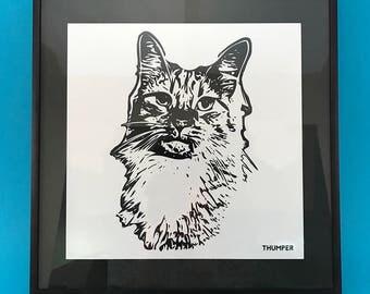 Custom Animal Portrait Sketch