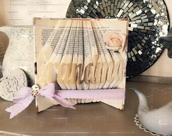 Folded book art - Grandma - book art