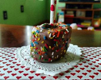 One dozen Chocolate covered  Marshmallow lollipops