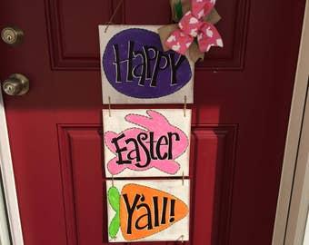Easter door hanger, Easter wreath, Easter decor
