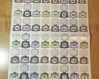 52 Week money savings Stickers