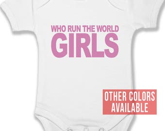 Who Run The World Beyonce Baby Bodysuit | Baby Clothes | Boy Girl Clothes | Infant Clothing | Baby Shower Gift | Custom Creeper | Urban Baby