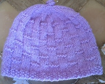 Girls Hand Knitted Hat