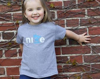 Nice Minnesota Toddler Tee, Gray, FREE SHIPPING - State Shirt, Minnesota Nice Shirt, Toddler Shirt