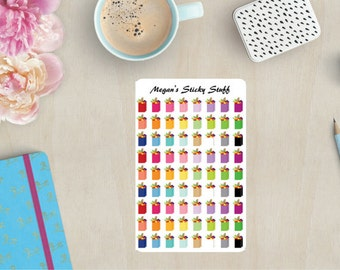 Multi Color Grocery Bags Functional Planner Stickers