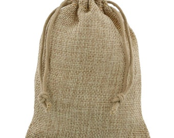 100 pieces 10x15 or 15x20cm Mini Jute Bags Natural or Anthracite