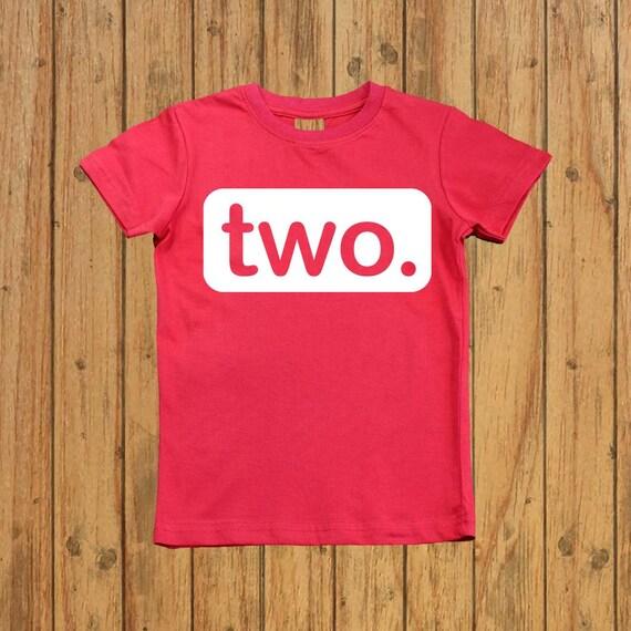 Boys Second Birthday Shirt Two Year Old Birthday Shirt 2nd