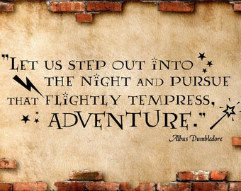 Harry Potter Wall  Quote, Albus Dumbledore Quote, Vinyl Letters, Multiple Colors