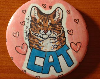 Cat Button/Pin