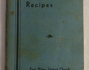 1934-1942 Tested Recipes of East Plains United Church Aldershot, Ontario with many Hamilton/Burlington Ontario Advertising