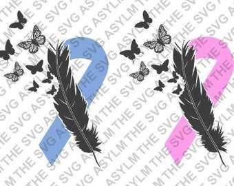 Butterfly Feather Ribbon