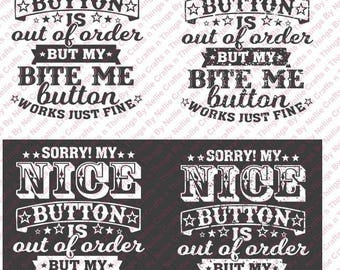 Nice button out of order SVG