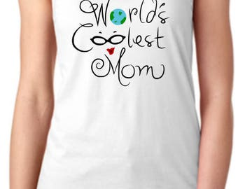 World's Coolest Mom Racerback Tanktop