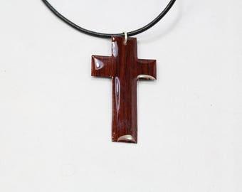 Handmade Wood Veneer Cross