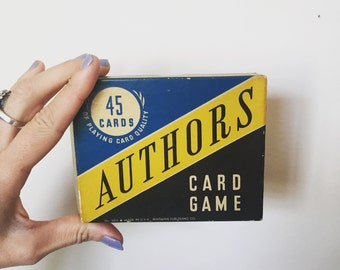 1950's 60's Edition of Authors a Whitman Card Game - Complete! - OSVHG0001