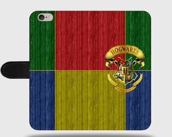 Hogwarts School of Witchcraft and Wizardry Harry Potter Faux Leather Phone Cover with Magnetic Clasp for iPhone and Samsung Galaxy LM028
