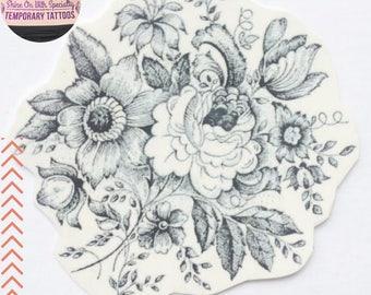 Tijdelijke Tattoo/ Vintage Flowers/ Flower Tattoo