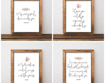 Wedding Table Love Quotes - Wedding Table Signs - Love Quote Wedding Signs - Printable Love Quotes - Set of 10 - Digital Download 8x10