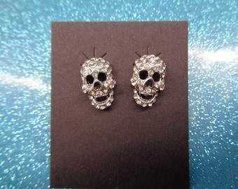 super sparkle skull earrings