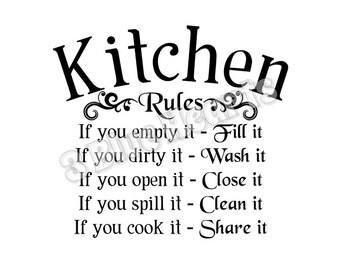 Kitchen Rules SVG dxf Studio, Cutting Board SVG dxf Studio, Cooking svg dxf studio, kitchen svg dxf studio