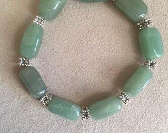Jade stone stretch bracelet