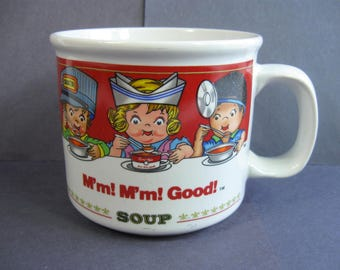 Campbell's Soup Mug with Handle, M'm M'm Good Soup Cup