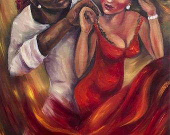Original oil painting Hot Salsa