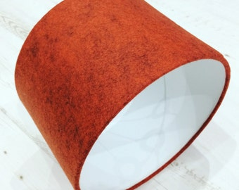 Orange Felt Lampshade